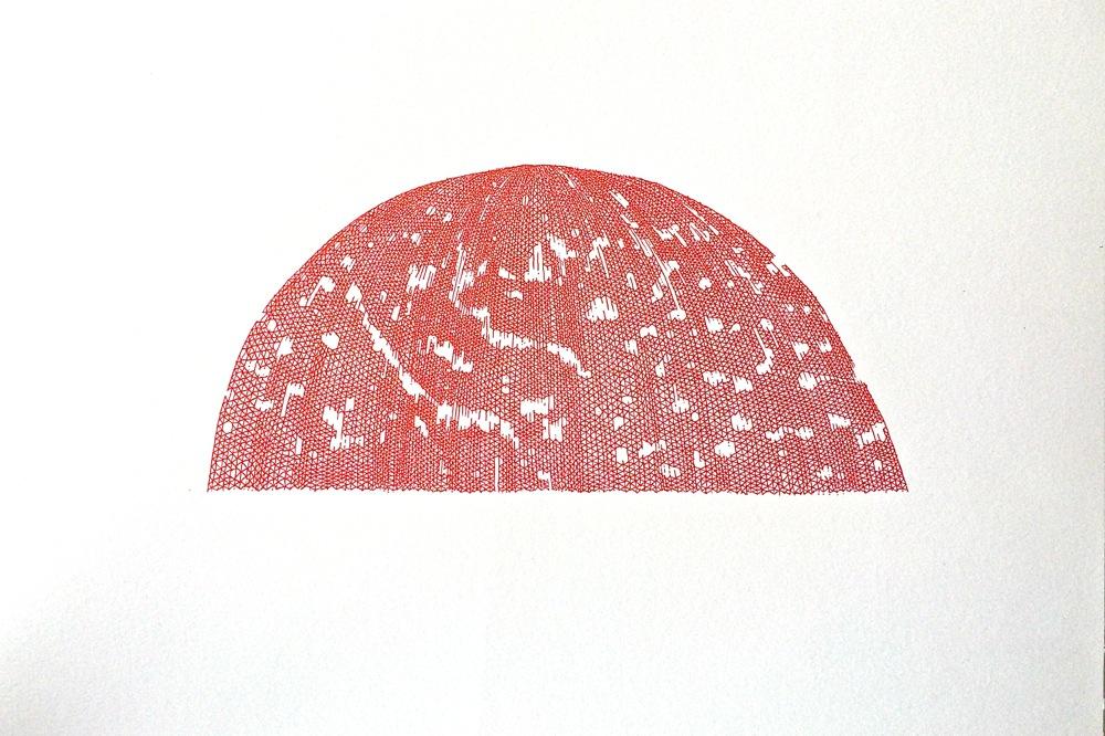 sans titre, 2015, stylo sur papier, 30 x 21 cm // untitled, 2015, pen on paper, 30 x 21 cm  EK: CHF 400,- VK: EUR 700,- (encadré//framed)