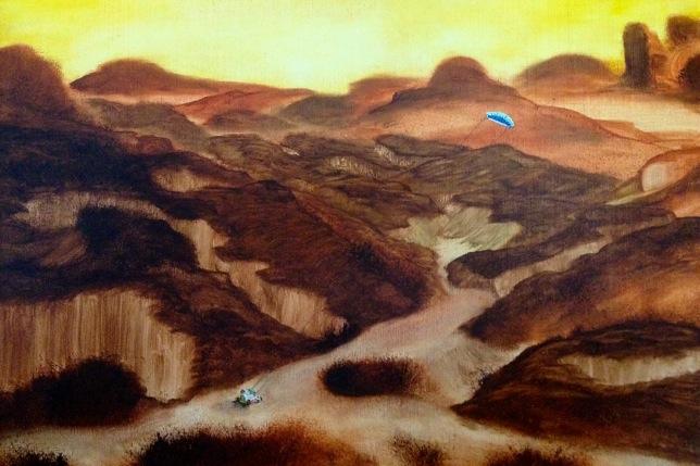 Voyager  2010 oil on wood/huile sur bois 30.5 x 41 cm EK CHF 2300,- , 09.06.11,  Discount 1 100,- CHF für die 3 Arbeiten )