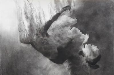 Portal, 100cm x 105cm, charcoal on paper